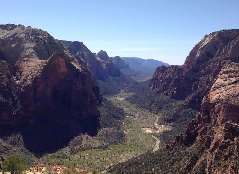 Angels Landing Trail View Zion National Park