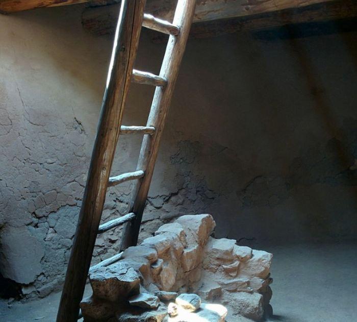 Ladder Inside Kiva
