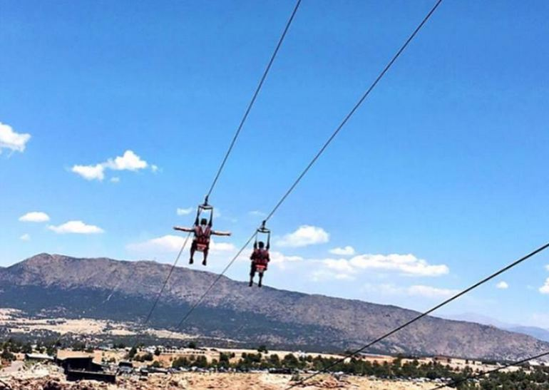 Zipline across Royal Gorge