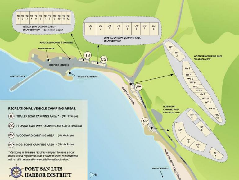 Port San Luis Harbor Campground Map