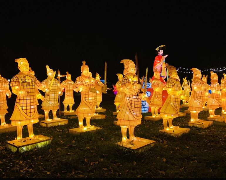 Chinese Warriors Lanterns