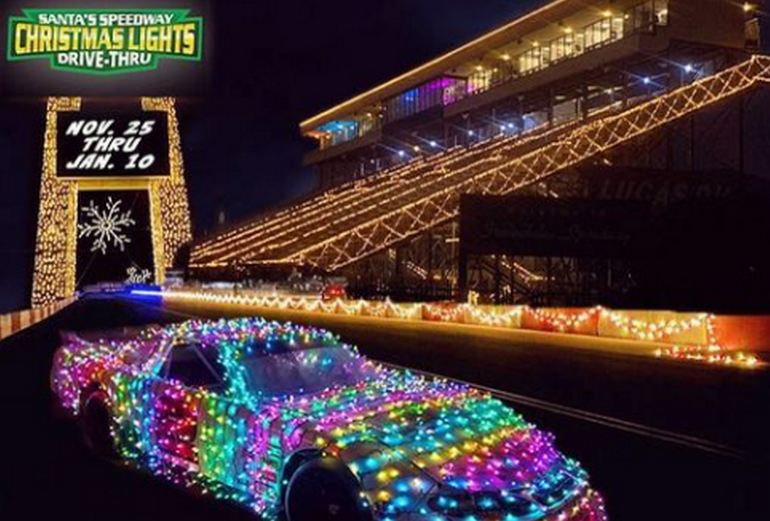 Santa's Speedway Drive-Through Christmas Lights